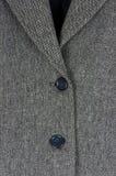 Detalle de la chaqueta de tweed Fotos de archivo libres de regalías