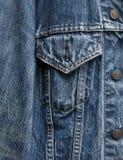 Detalle de la chaqueta del dril de algodón imagen de archivo libre de regalías