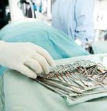 Detalle de la cirugía imágenes de archivo libres de regalías