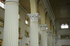 Detalle de la columna de Sultan Abu Bakar State Mosque en Johor Bharu, Malasia foto de archivo
