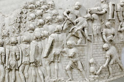 Detalle de la columna de Trajan Imagen de archivo