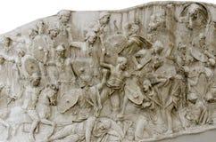 Detalle de la columna de Trajan Imagen de archivo libre de regalías