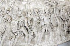 Detalle de la columna de Trajan Foto de archivo libre de regalías