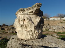 Detalle de la columna del griego clásico Imagen de archivo libre de regalías
