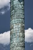Detalle de la columna Vendome Imagen de archivo