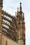 Detalle de la configuración gótica Imagen de archivo libre de regalías