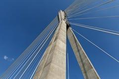 Detalle de la configuración moderna del extracto del puente. Imagenes de archivo