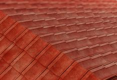 Detalle de la construcción del tejado ilustración 3D ilustración del vector