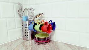 Detalle de la decoración de la cocina foto de archivo