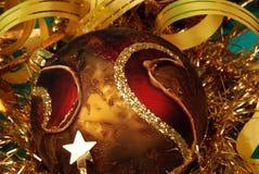 Detalle de la decoración de la Navidad fotografía de archivo libre de regalías