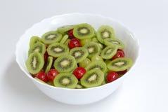 Detalle de la ensalada de fruta Fotografía de archivo libre de regalías