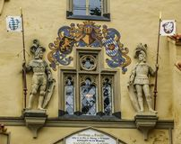 Detalle de la entrada del castillo de Hohenschwangau imágenes de archivo libres de regalías