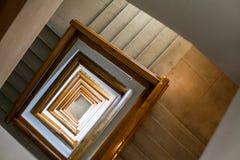Detalle de la escalera espiral Imágenes de archivo libres de regalías