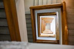 Detalle de la escalera espiral Fotografía de archivo