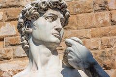 Detalle de la escultura de David en Florencia Imágenes de archivo libres de regalías