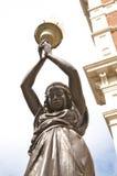 Detalle de la escultura de la mujer negra Imagen de archivo libre de regalías