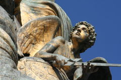 Detalle de la escultura de Venezia de la plaza Fotografía de archivo libre de regalías