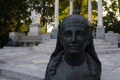 Detalle de la esfinge de la piedra Foto de archivo