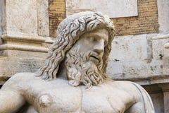 """Detalle de la estatua colosal restaurada como Oceanus: """"Marforio Foto de archivo libre de regalías"""