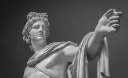 Detalle de la estatua de Apollo Belvedere Foto de archivo