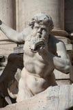 Detalle de la estatua de la fuente del Trevi imagen de archivo libre de regalías