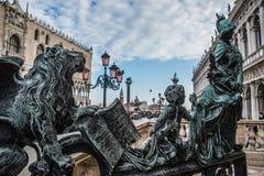 Detalle de la estatua del cuadrado de San Marco Foto de archivo