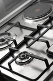 Detalle de la estufa de cocinar clásica Fotos de archivo libres de regalías