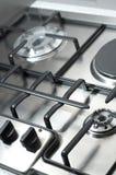 Detalle de la estufa de cocinar clásica Foto de archivo