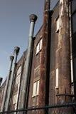 Detalle de la fábrica de acero Imagen de archivo