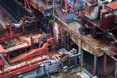 Detalle de la fábrica de coque imagen de archivo
