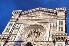 Detalle de la fachada de Florence Duomo Foto de archivo libre de regalías
