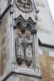 Detalle de la fachada de la abadía de Westminster Imagenes de archivo