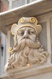 Detalle de la fachada de la casa en la ciudad vieja, Gdansk Polonia Imagenes de archivo