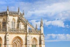Detalle de la fachada de la catedral de Batalha en Portugal Fotos de archivo
