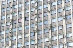 Detalle de la fachada del edificio del instituto de investigación científica Teplopribor en Prospekt Mira Fotos de archivo