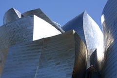 Detalle de la fachada del museo de Guggenheim Foto de archivo libre de regalías
