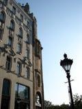 detalle de la fachada del nouveau del arte Foto de archivo libre de regalías