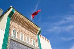 Detalle de la fachada del palacio real en Fes Imagen de archivo