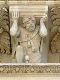 Detalle de la fachada principal, Santa Croce, Lecce Imagen de archivo