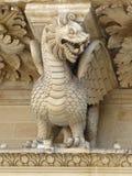 Detalle de la fachada principal, Santa Croce, Lecce Foto de archivo