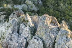 Detalle de la formación de roca Imagen de archivo