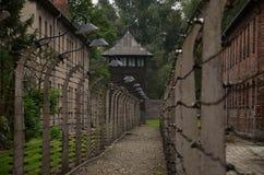 Detalle de la foto en campo de concentración nazi en Polonia Imagenes de archivo
