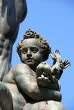 Detalle de la fuente de Neptuno en Bolonia, Italia Foto de archivo libre de regalías