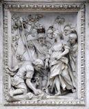 Detalle de la fuente del Trevi. Foto de archivo libre de regalías