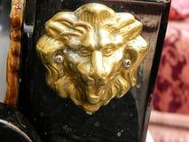 Detalle de la góndola, león Imagen de archivo