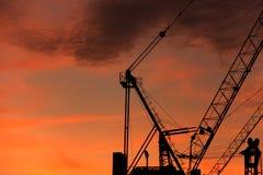 Detalle de la grúa de construcción Imagen de archivo libre de regalías