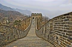 Detalle de la Gran Muralla de China en HDR imágenes de archivo libres de regalías