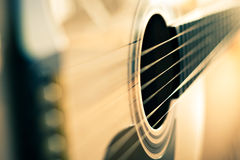 Detalle de la guitarra Foto de archivo