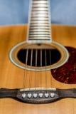 Detalle de la guitarra Fotos de archivo