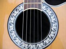 Detalle de la guitarra Imagenes de archivo